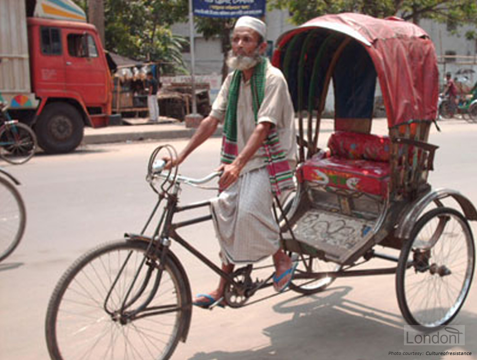 A rickshaw walla encompassing the hardworking nature of Bengalis