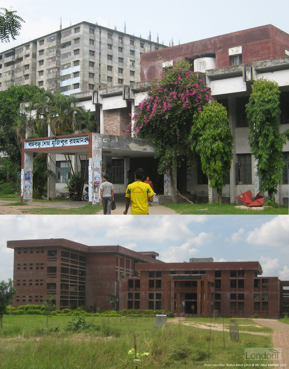 Bangabandhu Sheikh Mujibur Rahman Hall at Dhaka University and Jahangirnagar University