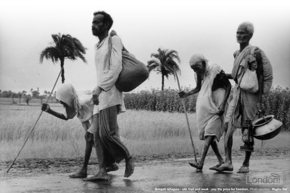 Old and frail Bengali refugees (1971)