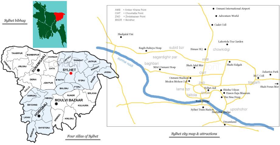 Sylhet bangladesh sylhet map gumiabroncs Image collections